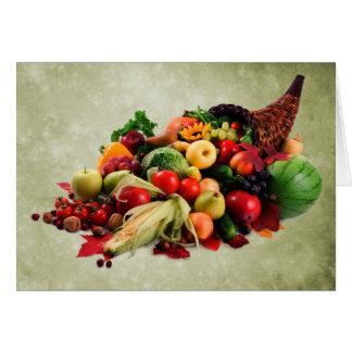 Cartes Klaxon de corne d'abondance de bon thanksgiving de