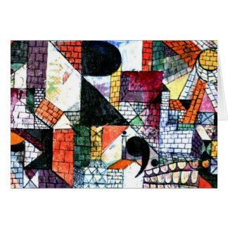 Cartes Klee - ville de R ; Illustration de Paul Klee