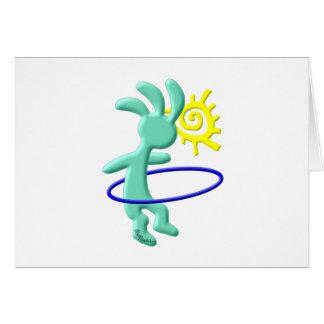 Cartes Kokopelli badine le cercle de danse polynésienne