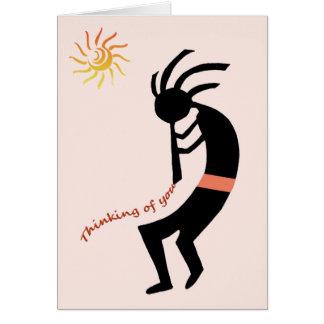 Cartes Kokopelli -- Joueur de cannelure de Natif