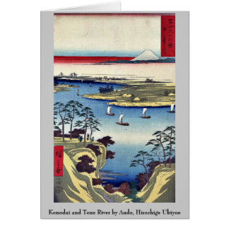 Cartes Konodai et rivière de ton par Ando, Hiroshige