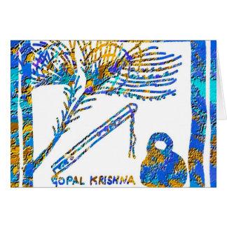 Cartes Krishna - cannelure, babeurre de la plume n de