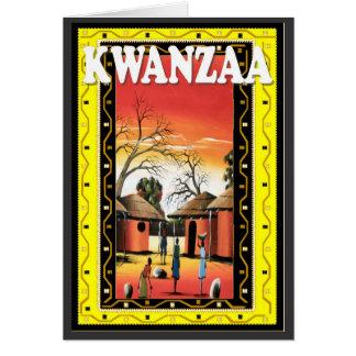 Cartes Kwanzaa, dans le village