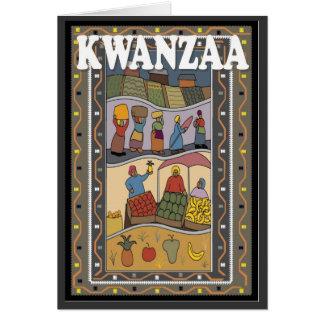 Cartes Kwanzaa, stalle du marché
