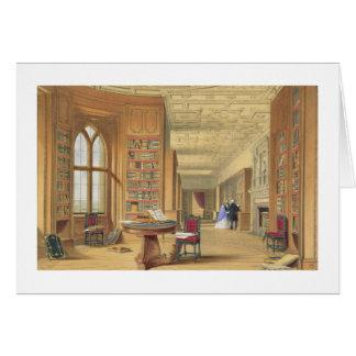 Cartes La bibliothèque, château de Windsor, 1838 (litho