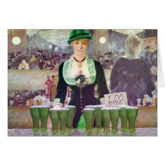 Cartes La bière verte de la vente $1 de barman