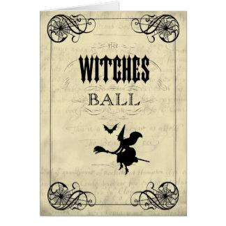 Cartes La boule Halloween de sorcières