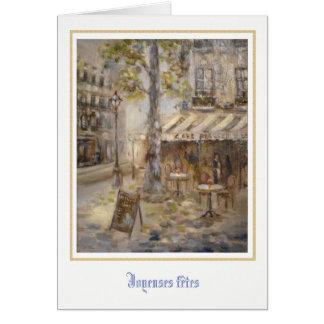Cartes La brasserie De Paris III Flont ©Atelier de Café