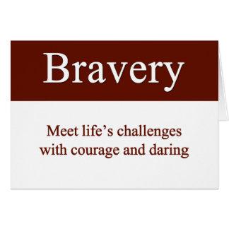 Cartes La bravoure nous laisse relever les défis de la