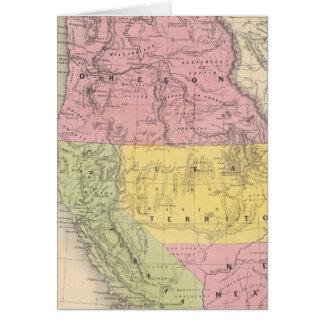 Cartes La Californie, l'Orégon, l'Utah, et le Nouveau