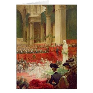 Cartes La cérémonie au Panthéon