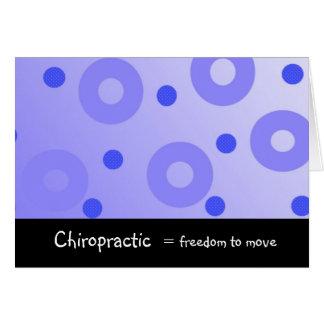 Cartes La chiropractie égale la liberté pour se déplacer
