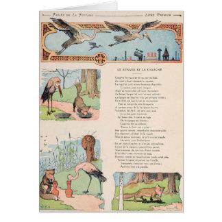 Cartes La cigogne et le Fox des fables