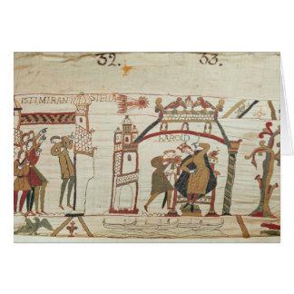 Cartes La comète et le Harold de Halley recevant la