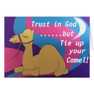 Cartes La confiance dans Dieu mais attachent votre