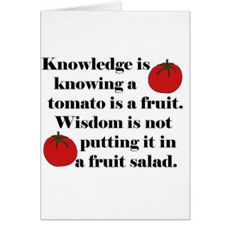 Cartes La connaissance sait qu'une tomate est un fruit