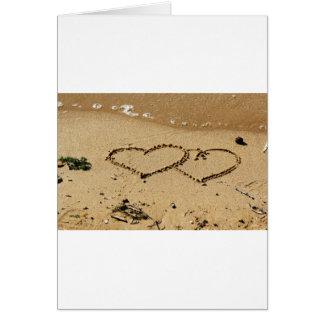 Cartes La coutume d'amour de coeurs de coeur