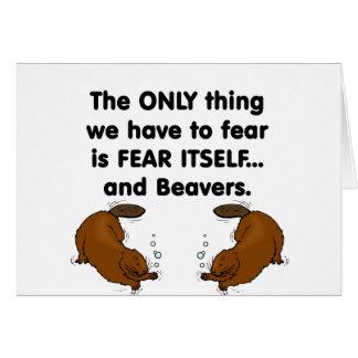 Cartes La crainte elle-même Beavers