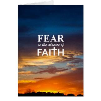Cartes La crainte est l'absence de la foi