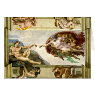 Cartes La création d'Adam par des beaux-arts de Michaël