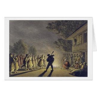 Cartes La danse des paysans bulgares, pub. par Willi