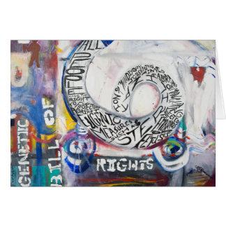 Cartes La déclaration des droits génétique peignant la