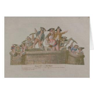 Cartes La démolition de la bastille, juillet 1789