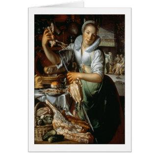 Cartes La domestique de cuisine (avec le Christ, Mary et