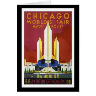 "Cartes La ""Exposition universelle, Chicago, 1933"" crus"