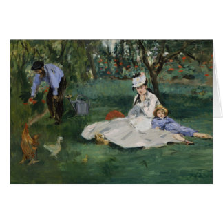 Cartes La famille de Monet dans leur jardin - Édouard