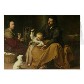 Cartes La famille sainte avec le petit oiseau, c.1650