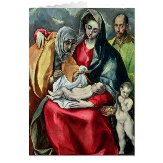 Cartes La famille sainte avec St.Elizabeth, 1580-85