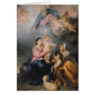 Cartes La famille sainte ou la Vierge de Séville