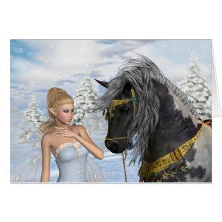 Cartes La fée et l'étalon, un conte de Noël