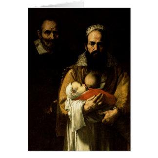 Cartes La femme barbue allaitant, 1631