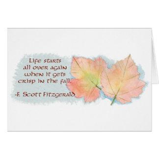 Cartes La feuille et le Fitzgerald d'automne citent la