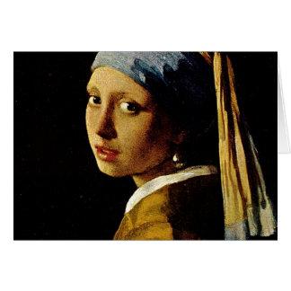 Cartes La fille avec un turban/fille avec la boucle