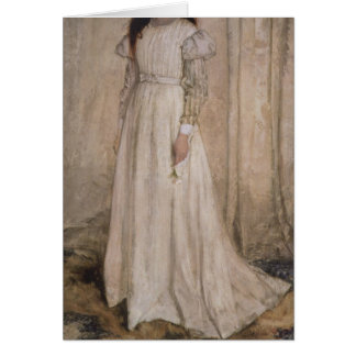 Cartes La fille blanche par James Abbott McNeill Whistler