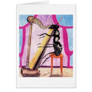 Cartes La fourmi Daphne joue l'harpe