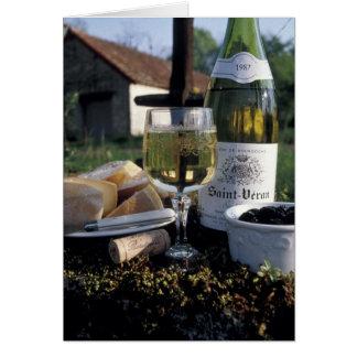 Cartes La France, Bourgogne, Chablis. Vin du pays et