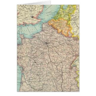 Cartes La France, la Belgique et la Hollande politiques