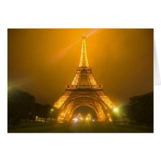 Cartes La France, Paris. Tour Eiffel illuminé à 3