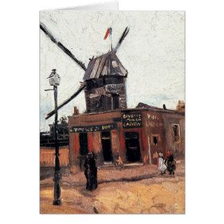 Cartes La Galette, moulin à vent vintage de Van Gogh Le