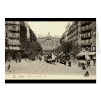 Cartes La Gare du Nord cru de Paris, France c1905