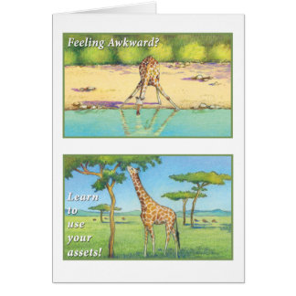 Cartes La girafe - marquez le 9h23