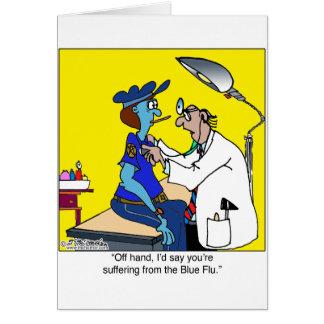 Cartes La grippe bleue