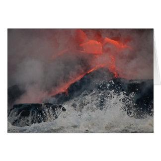 Cartes La lave se renverse dans la mer