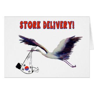 Cartes La livraison de cigogne !