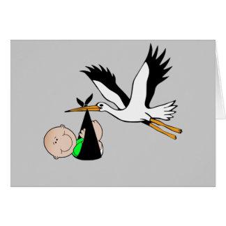 Cartes La livraison nouveau-née par la cigogne