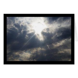 Cartes La lumière de Dieu par la chanson de nuages du